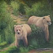 The Cubs Of Katmai Art Print