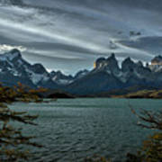 The Cuernos And Lake Pehoe #3 - Chile Art Print