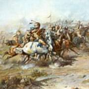 The Custer Fight Art Print