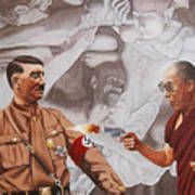 The Dalai Lama Shoots Adolph Hitler Art Print
