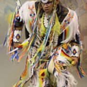 Pow Wow The Dance 4 Art Print