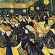 The Dance Hall At Arles Art Print by Vincent Van Gogh