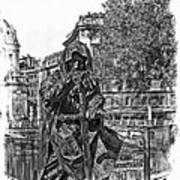The Dark Knight II Art Print