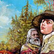 The Dauphin And Captain Nemo Discovering Bogomils Island Art Print