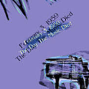 The Day The Music Died - Feb 3 1959 Art Print