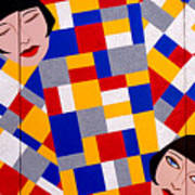 The De Stijl Dolls Art Print