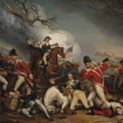 The Death Of General Mercer At The Battle Of Princeton, January 3, 1777  Art Print