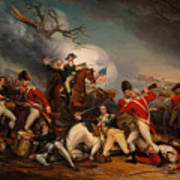 The Death Of General Mercer At The Bottle Of Princeton Art Print
