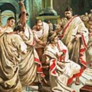 The Death Of Julius Caesar  Art Print