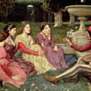 The Decameron Art Print by John William Waterhouse