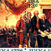 The Declaration Of Independence  Print by Lanjee Chee