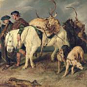 The Deerstalkers Return Art Print by Sir Edwin Landseer