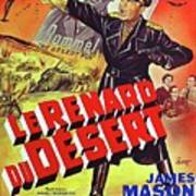 The Desert Fox  James Mason Theatrical Poster Number 2 1951 Color Added 2016 Art Print