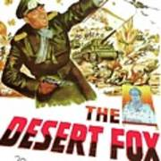 The Desert Fox  James Mason Theatrical Poster Number 3 1951 Color Added 2016 Art Print