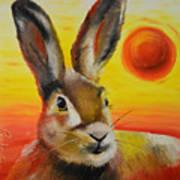 The Desert Hare Art Print