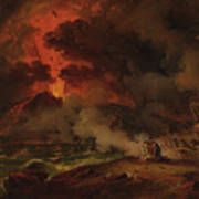 The Destruction Of Pompeii Art Print