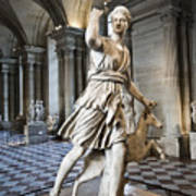 The Diana Of Versailles In The Louvre Art Print