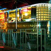 The Diner By Night Art Print
