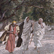 The Disciples On The Road To Emmaus Art Print by Tissot