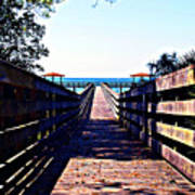 The Dock At Lake George  Art Print