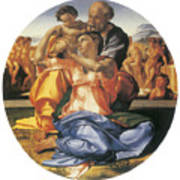 The Doni Tondo Print by Michelangelo Bounarroti