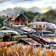 The Donor Cars Art Print