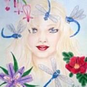 The Dragonfly Girl Art Print