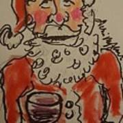 The Drunken Santa Art Print