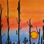 The Dryest Sunset Art Print