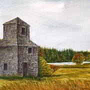 The Drying Barn Art Print by Norman F Jackson