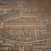 The Earliest Known Map Of The City Print by Taylor S. Kennedy