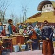 The East Market, Peking, Ca 1921 Art Print