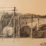 The Edge Of The Village Art Print