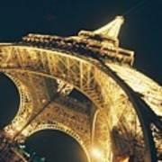 The Eiffel Tower By Night Art Print