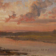 The Elbe In Evening Light Art Print