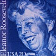 The Eleanor Roosevelt Stamp Art Print