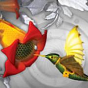The Electric Hummingbird Art Print