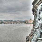 the embankment Praha Art Print
