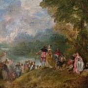Canvas Print Poster Art The Embarkation for Cythera Jean-Antoine Watteau