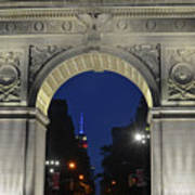 The Empire State Building Through The Washington Square Arch Art Print