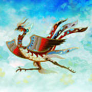 The Empress - Flight Of Phoenix - Blue Version Art Print