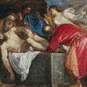 The Entombment Of Christ Print by Titian