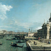 The Entrance To The Grand Canal And The Church Of Santa Maria Della Salute Art Print