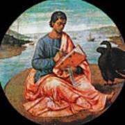 The Evangelist John At Patmos Art Print