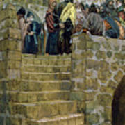 The Evil Counsel Of Caiaphas Art Print by Tissot