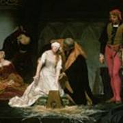 The Execution Of Lady Jane Grey Art Print