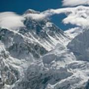 The Extreme Terrain Of Mount Everest Art Print