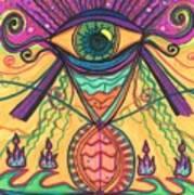 The Eye Opens... To A New Day Art Print by Daina White