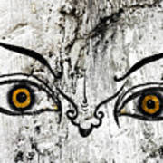 The Eyes Of Guru Rimpoche  Art Print by Fabrizio Troiani