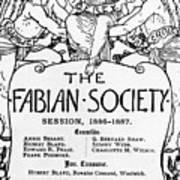 The Fabian Society Report Art Print